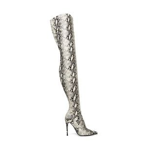 Snakeskin Over the Knee Boots